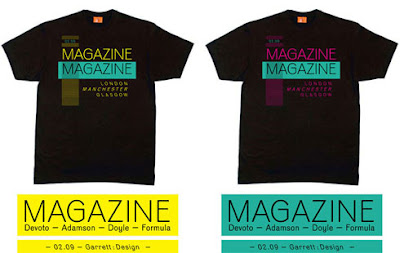 The Malcolm Garrett designed Magazine Tour T-Shirts : Motorcade Black