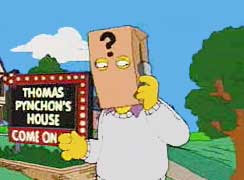 Thomas Pynchon appears in the Simpsons, 2004.