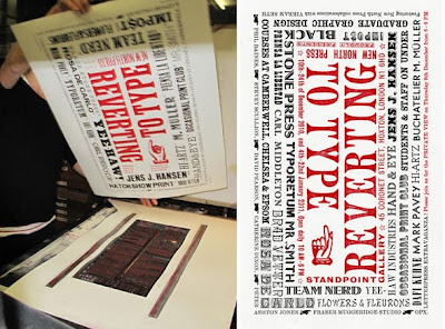 Reverting To Type Letterpress Poster