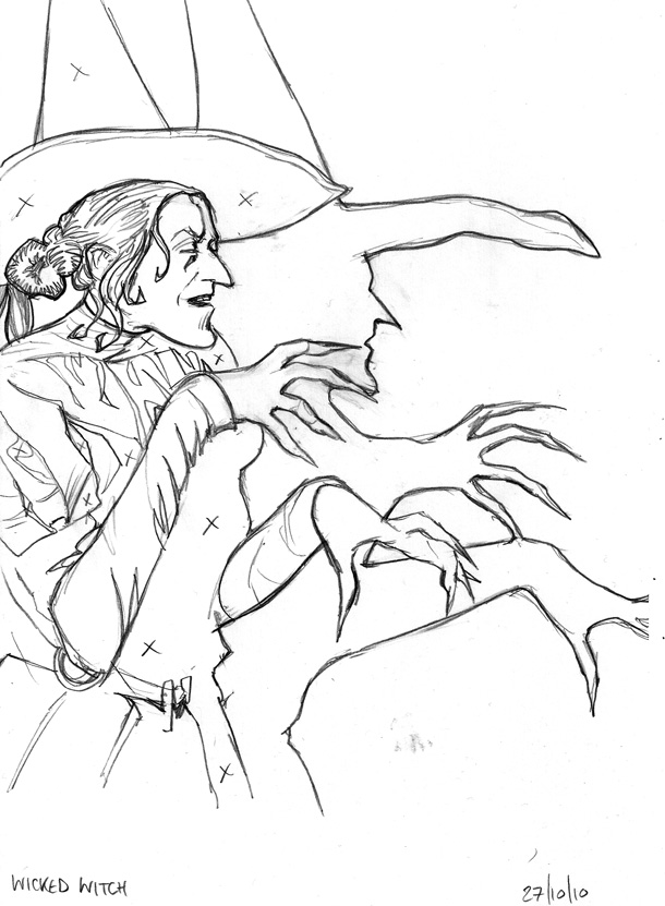wicked witch coloring pages - photo#10