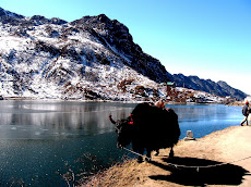 Tsomgo Lake during winters