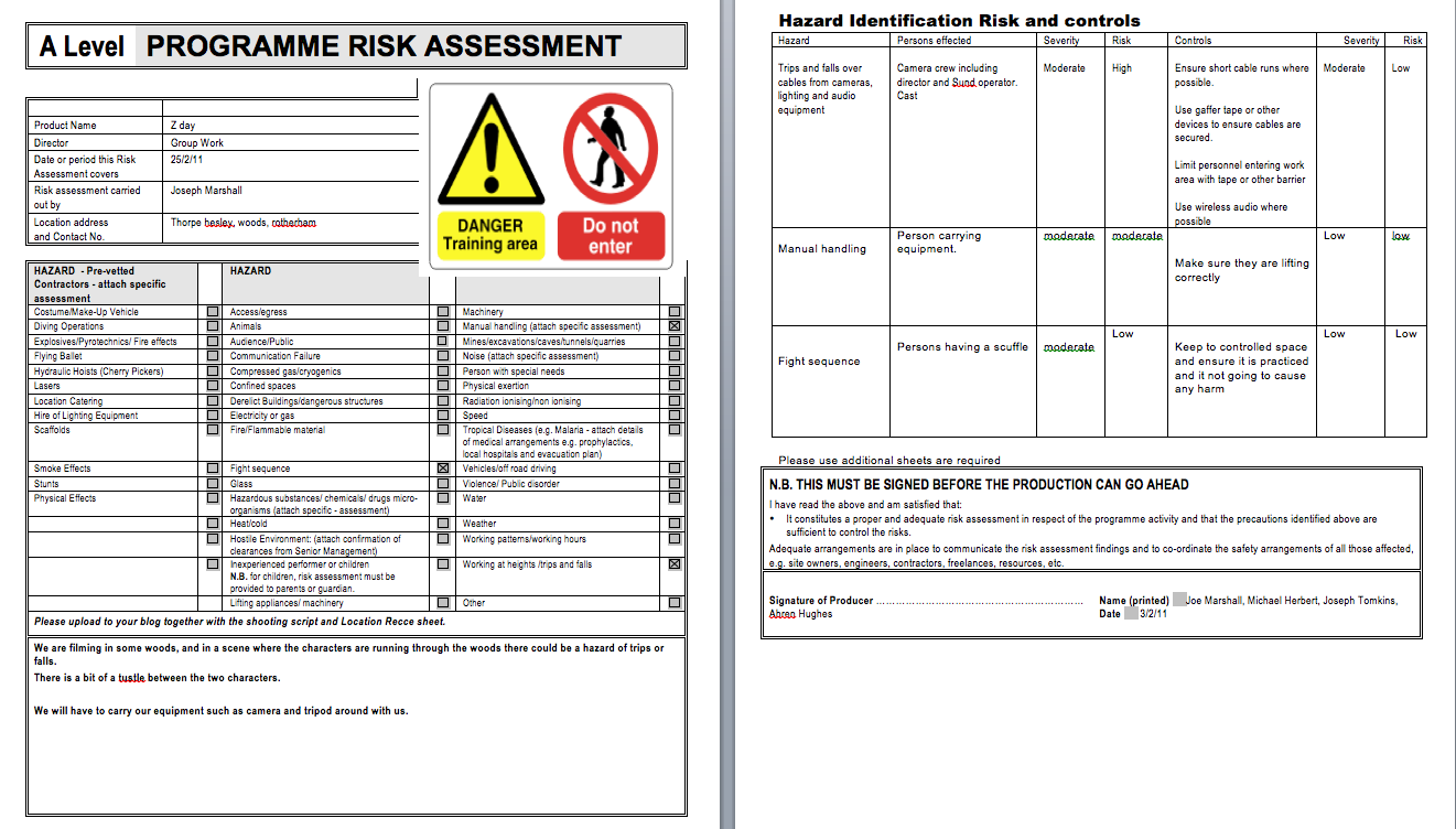 risk assessments and hazard identification on construction sites construction essay For a job hazard analysis to be effective, management must demonstrate its commitment to safety and health and follow through to correct any uncontrolled hazards identified otherwise, management will lose credibility and employees may hesitate to go to management when dangerous conditions threaten them.