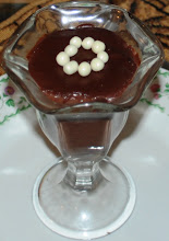 Chocolate Malt Pudding with White chocolate Pearls