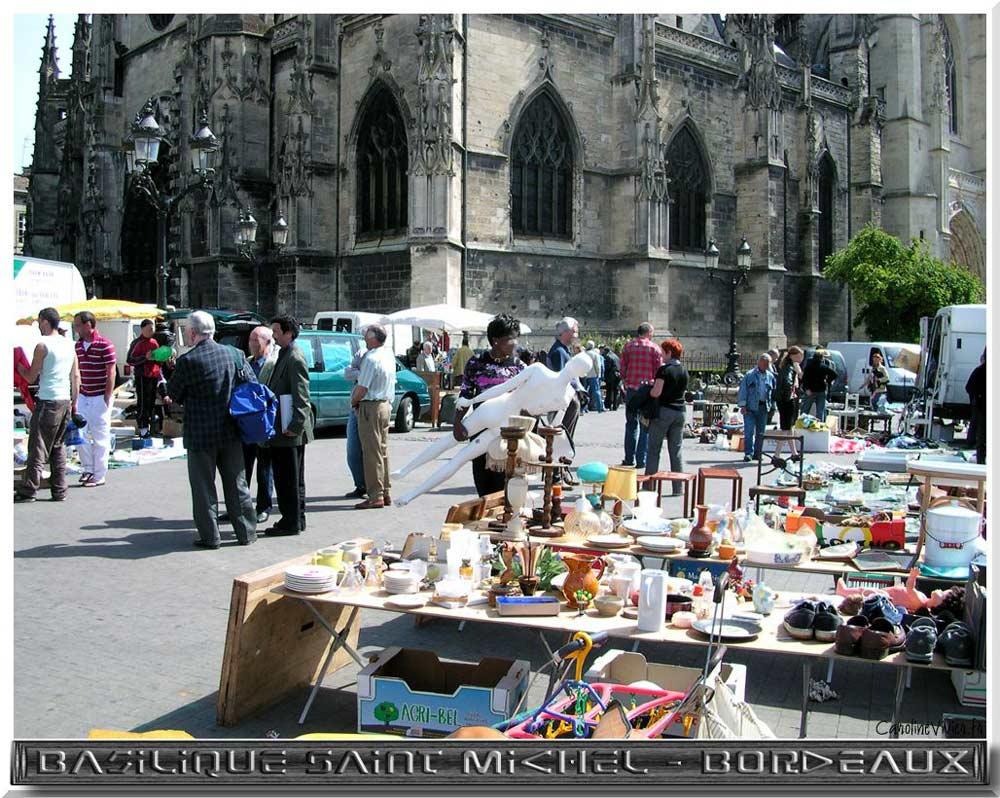Basilique Saint Michel et Marché Saint Michel à Bordeaux