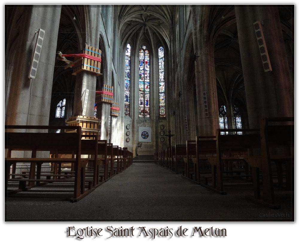 Intérieur de l'Eglise de Saint Aspais de Melun