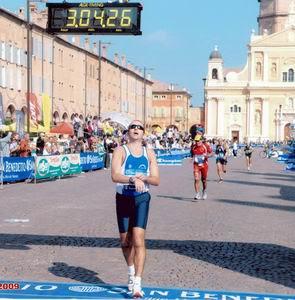 Carpi marathon arrival