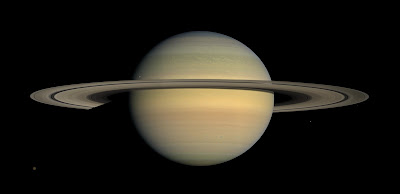 Imagen de Saturno captada por la sonda Cassini
