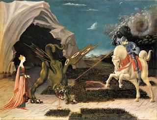San Jorge y el dragón - Paolo Uccello