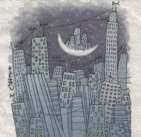 Parcelas en la Luna - Dibujo de Matt