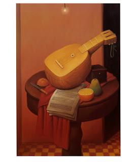 Naturaleza muerta con mandolina - Fernando Botero