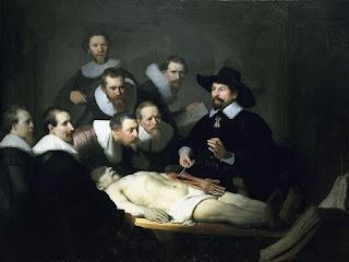 Lección de Anatomía - Rembrandt - Virado a colores fríos