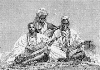 Griots de Sambala - Ilustración de 'Costa Occidental de África', del coronel Frey