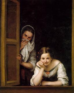 Dos mujeres en la ventana - Bartolomé Esteban Murillo