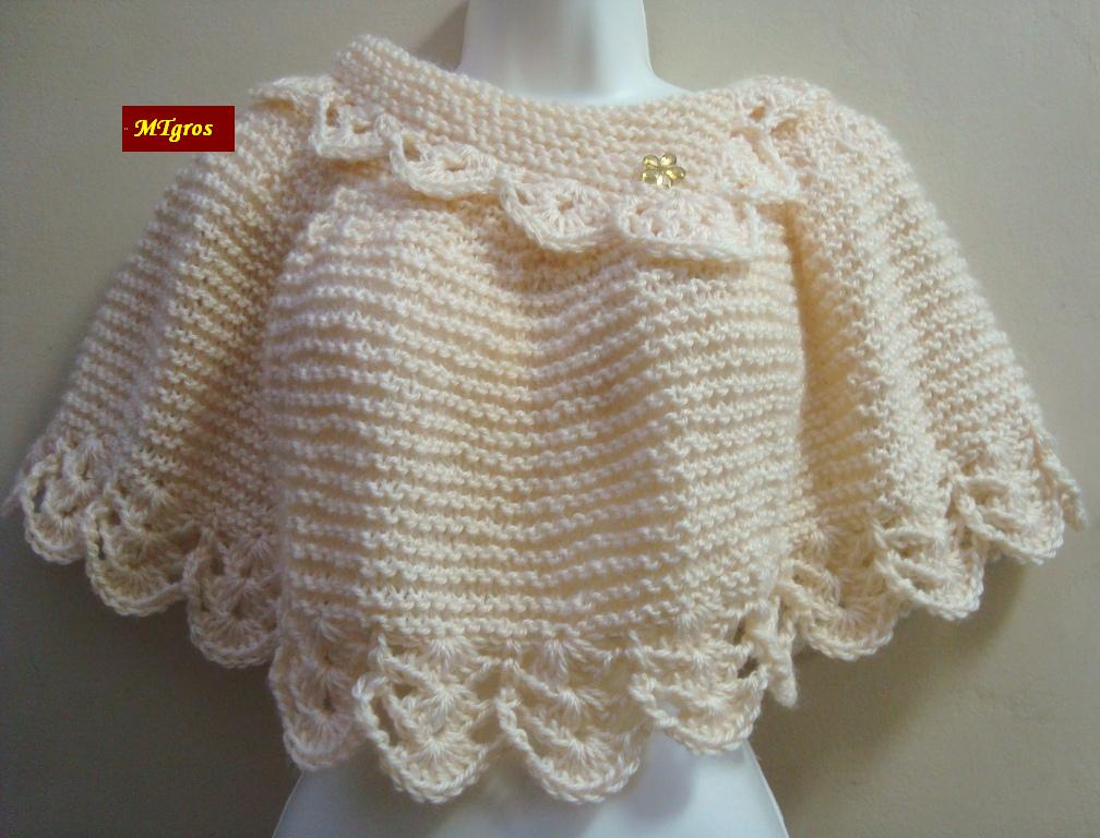 Pelerine em lã sedificada - Trico e Croche