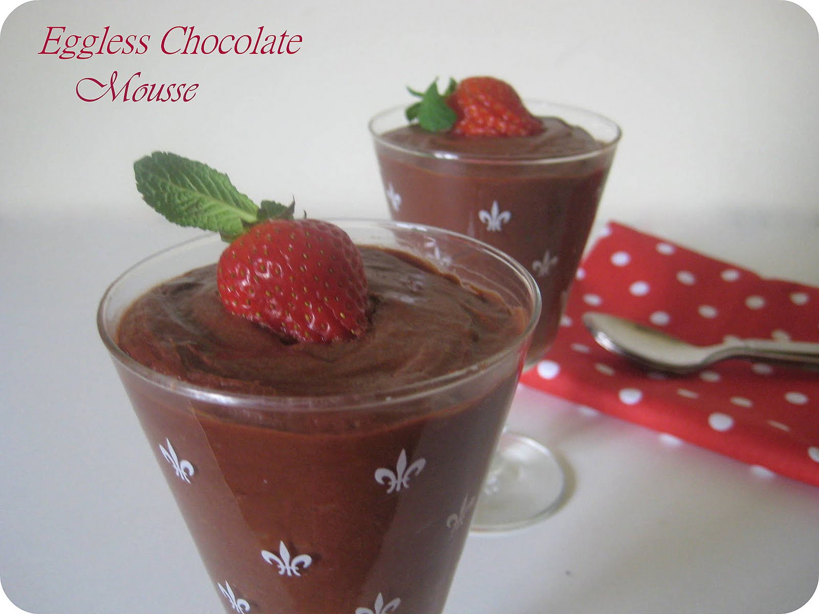 Faiza Ali's Kitchen: Instant Eggless Chocolate Mousse