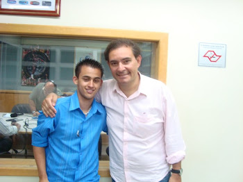 Eu e os jornalistas esportivos da Rádio Transamérica