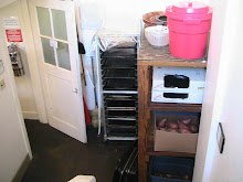 The back entrance to the kitchen