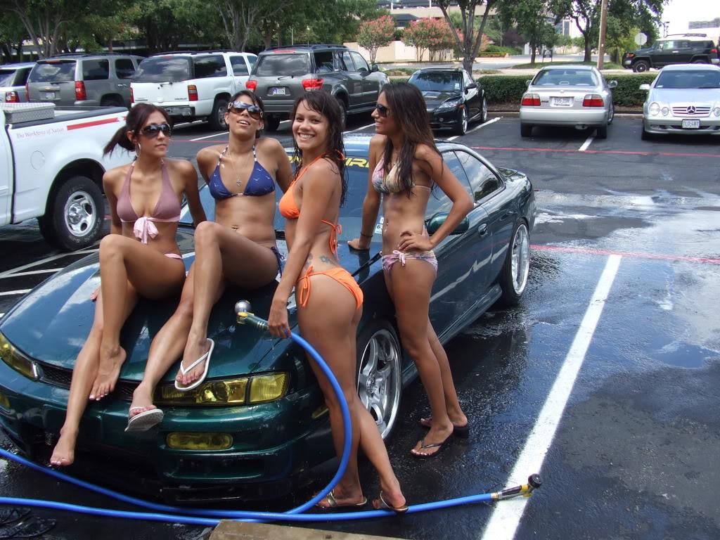 Sheer bikini car wash pictures