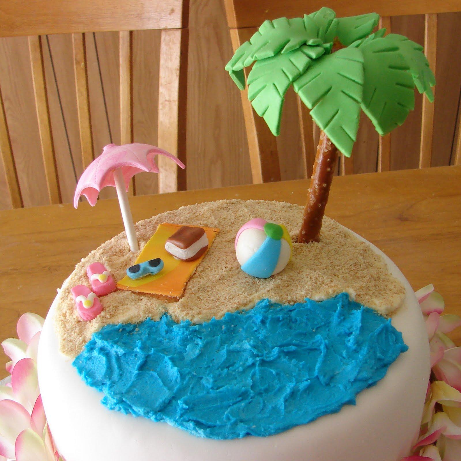 hawaiian bridal shower cake