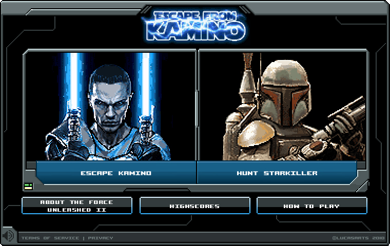 Star Wars: The Force Unleashed II, Escape from Kamino allows you to