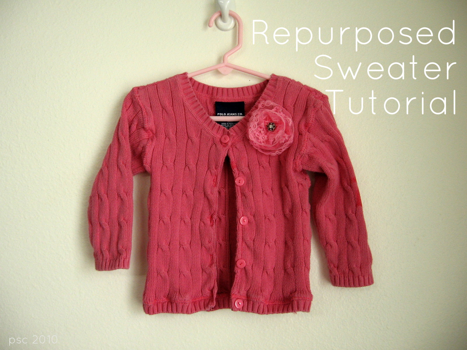 Pickup Some Creativity: Repurposed Sweater Tutorial