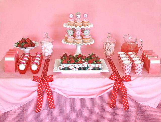 Decoración para fiestas infantiles de rosita fresita - Imagui