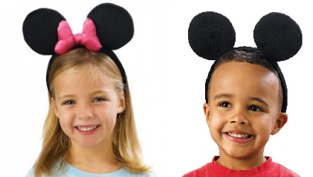 Diademas Con Orejas De Mickey Y Minnie