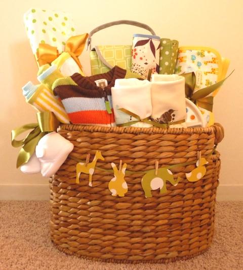 New Baby Gift Wrapping Ideas : Canasta de regalos para baby shower lacelebracion