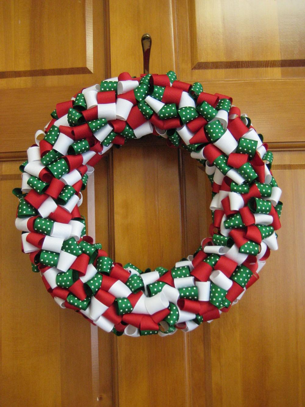 coronas de cintas navideas navidad