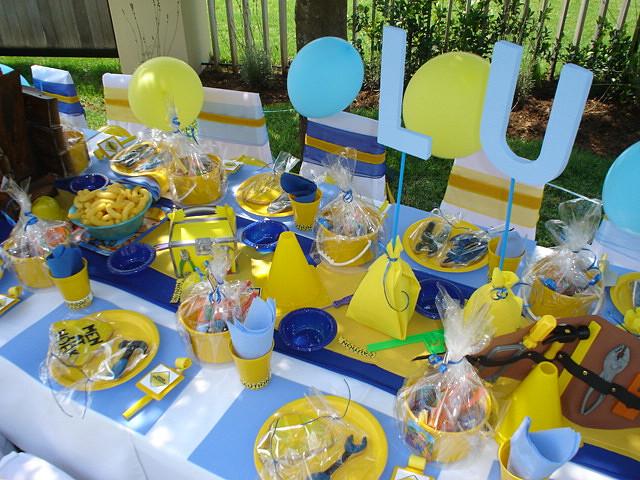 Fiestas Infantiles, Decoración Bob el Constructor, Centros