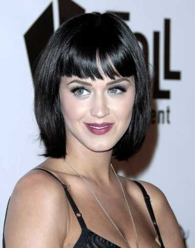 katy perry short bangs hairstyles 2010 for girls
