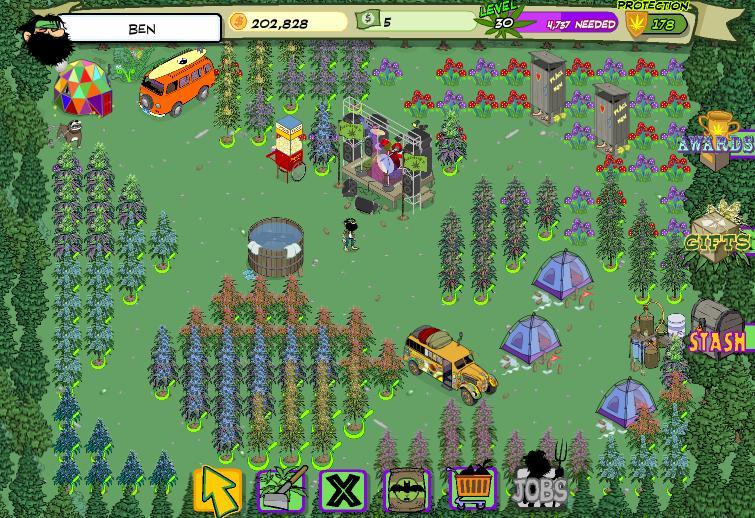free pot farm game