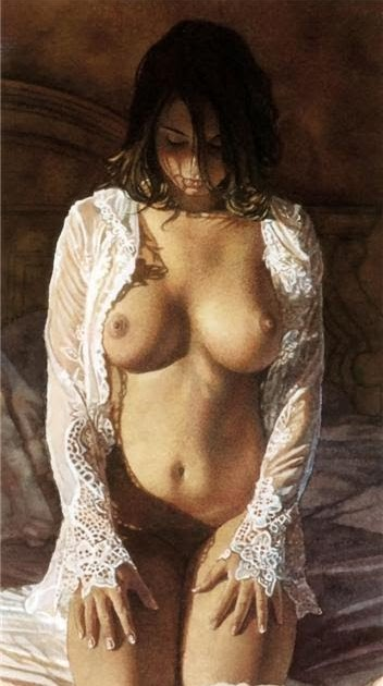 erotic in art steve hanks nude watercolors