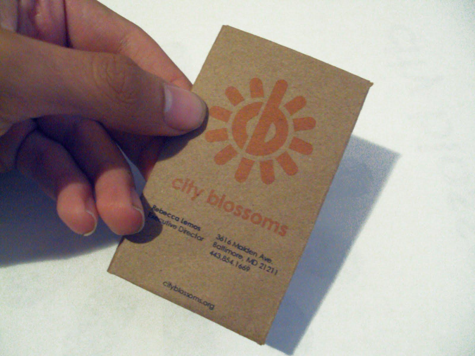 alexander sloves design city blossoms new logo business card