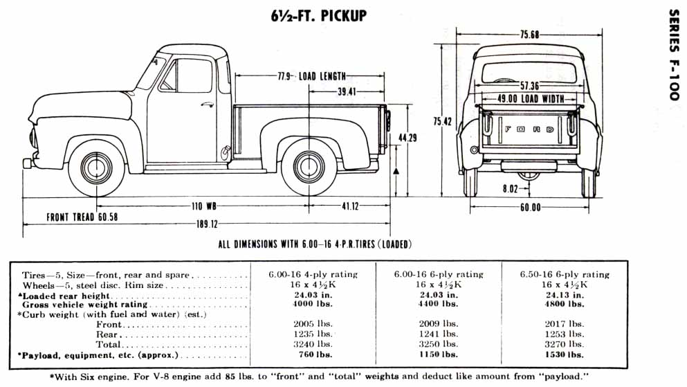 Chevy Truck Short Bed Measure Diagram