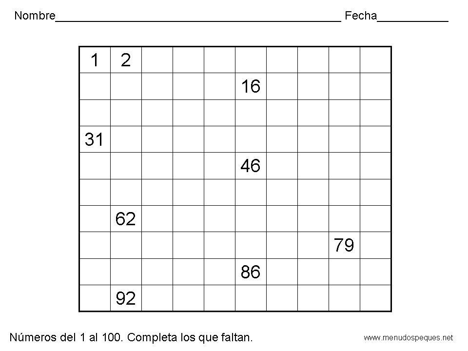 De maestro a maestro: Númerosdel 1 al 100