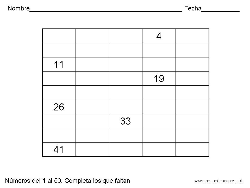 De maestro a maestro: Números del 1 al 50