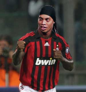 ronaldinho on ac milan