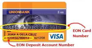 Unionbank EON Visa Debit Card