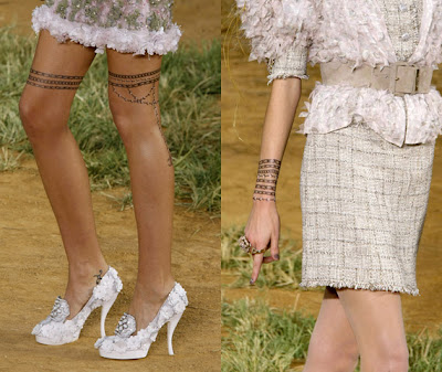 The latest Chanel is a collection of transfer tattoos that first appeared on