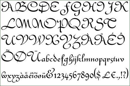letras frances: