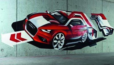 [Audi A1 Street Art - clic para ver en alta definición]