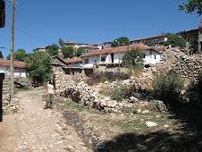 Bayırlı Köyünden bir görünüş (Yıkık ev Leylek'in evidir)