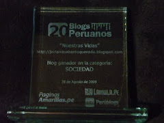 Blog ganador en Per