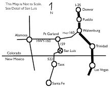 Maps to San Luis, CO