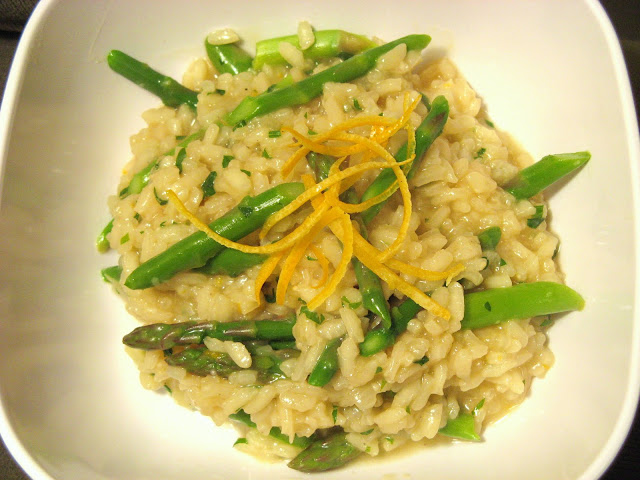 The Well-Fed Newlyweds: Meyer Lemon and Asparagus Risotto