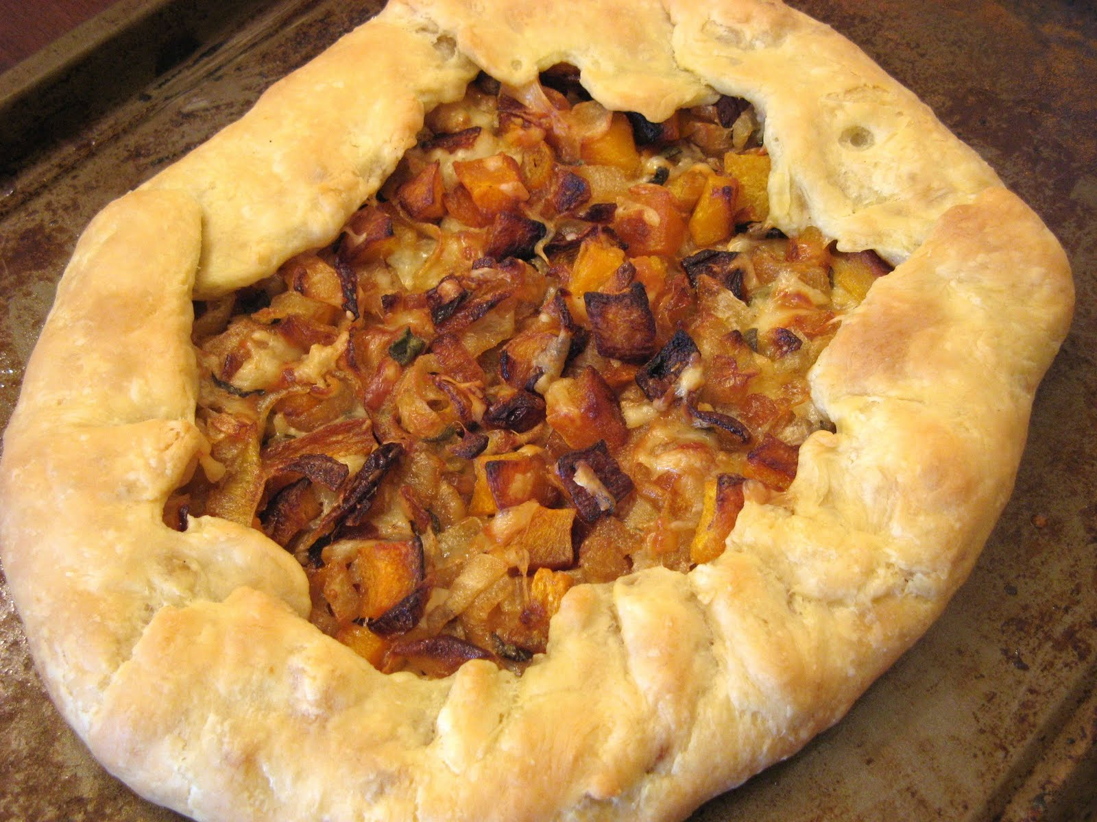 Butternut Squash And Caramelized Onion Galette Recipes — Dishmaps