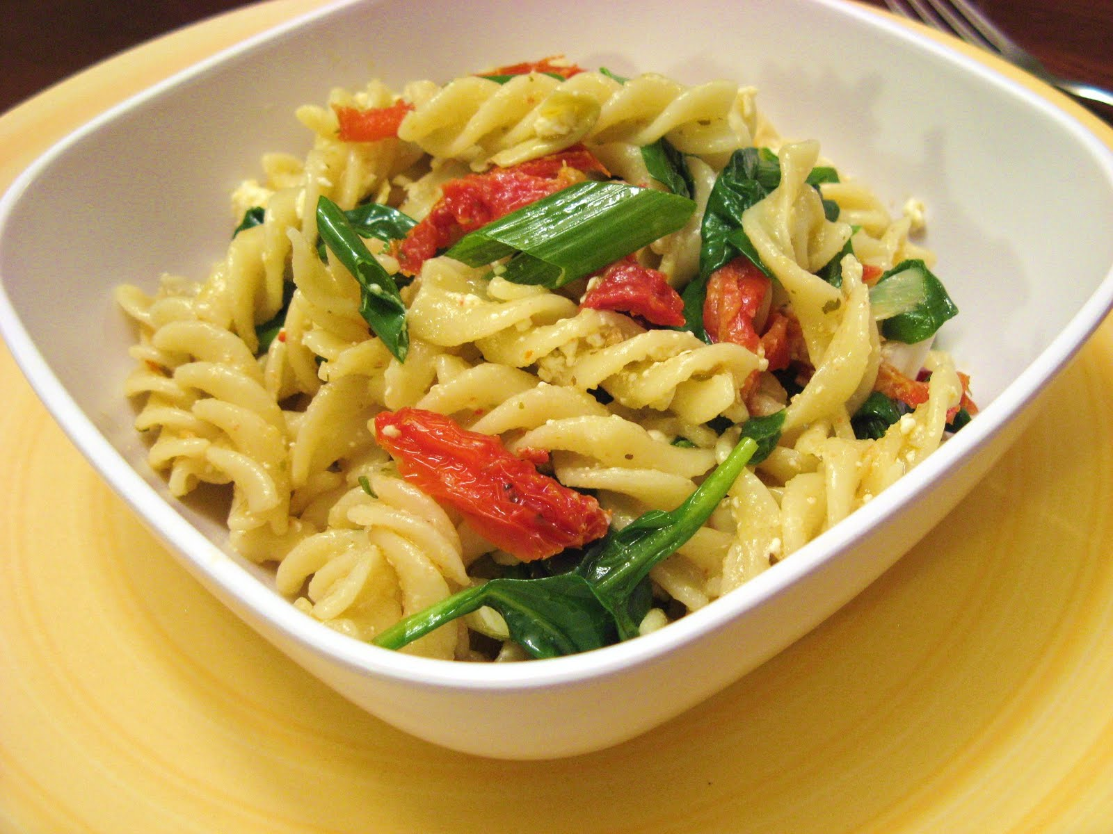 ... -Fed Newlyweds: Pasta with Artichokes, Sundried Tomatoes, and Spinach
