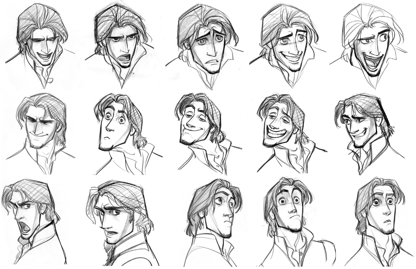 Character Design Expression : Character and creature design notes disney s quot tangled