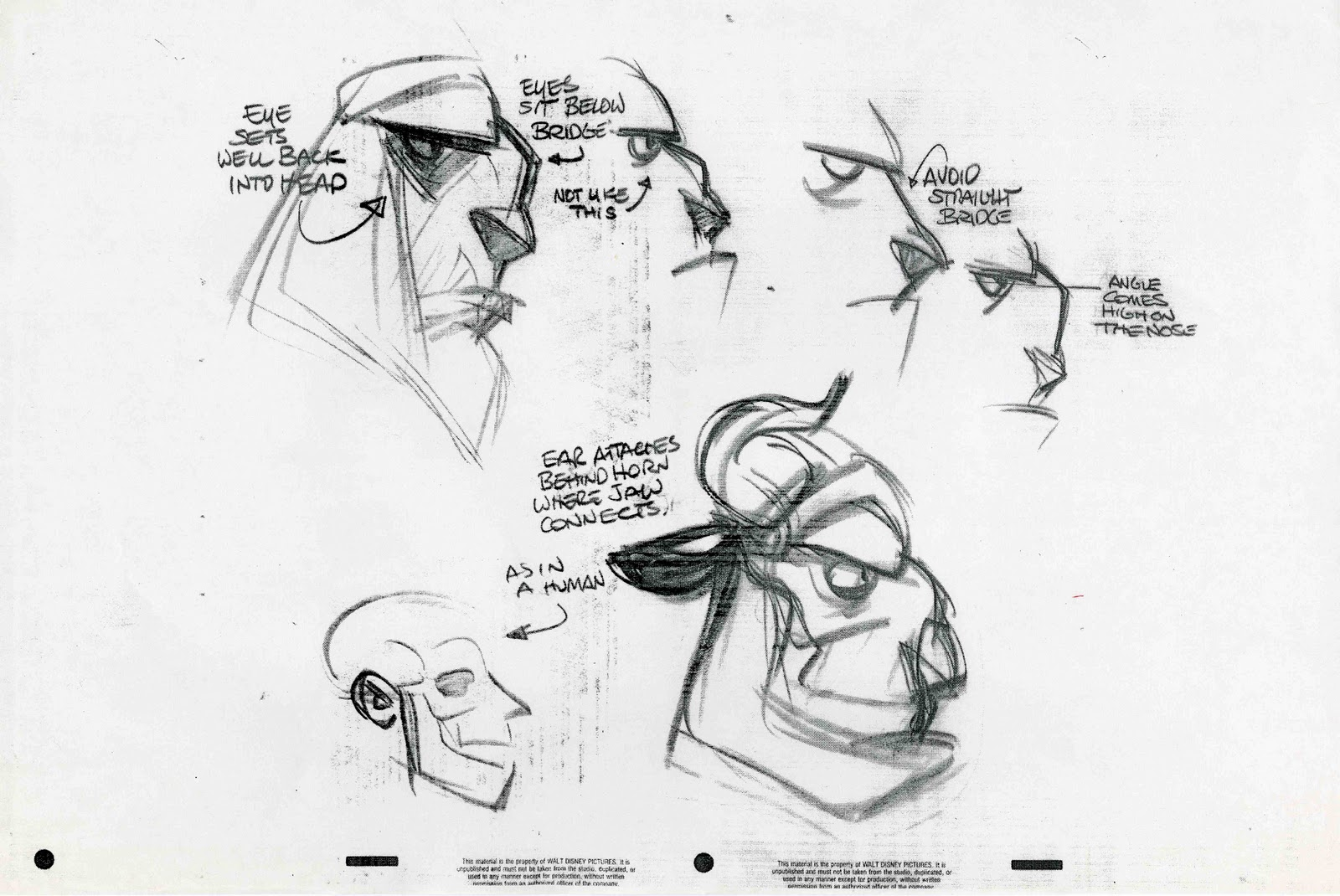 Disney Character Design Process : Character and creature design notes model sheets part